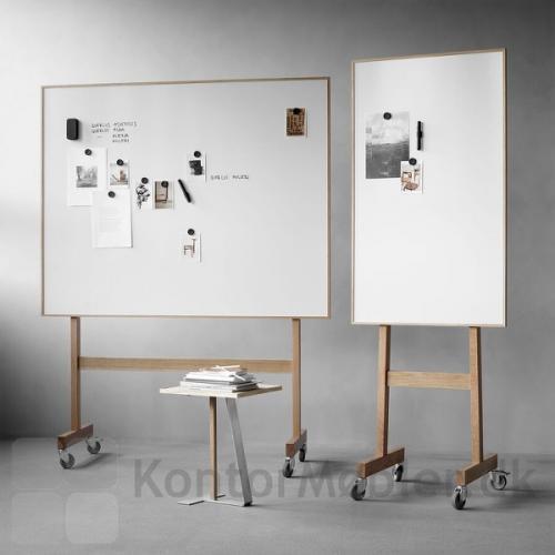 Wood mobil whiteboard kan vælges i to bredder