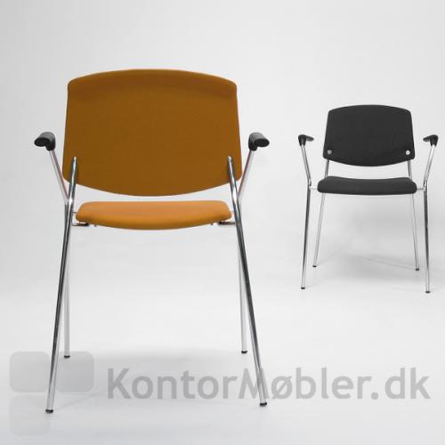 Pause mødestol med fuldpolstring og armlæn