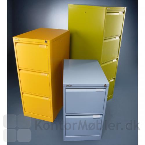 BS hængemappe skuffeskabe kan vælges i flere farver, kontakt os for priser