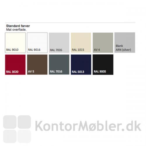Standard farver - Her er alle standard farverne vist