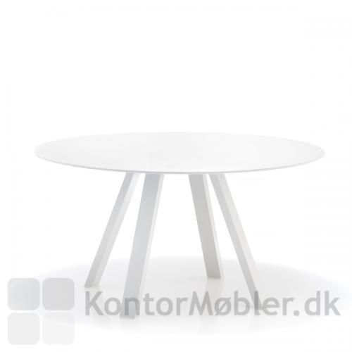 Ark5 mødebord fra Pedrali kan vælges i hvid eller sort