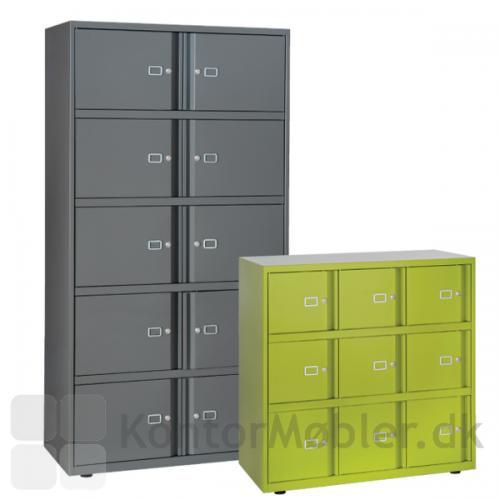 Bisley lockers kan vælges i mange størrelser, så opbevaringen passer til dit behov