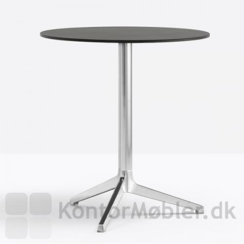 Ypsilon cafébord med poleret aluminiums stel