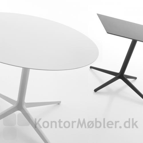 Ypsilon 4 bordet kan vælges med rund eller kvadratisk bordplade