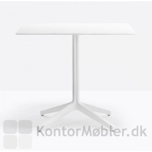 Ypsilon 4 bord med hvid kvadratist bordplade og hvidt stel