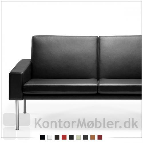 Getama sofa kan vælges i flere læder varianter og mange farver