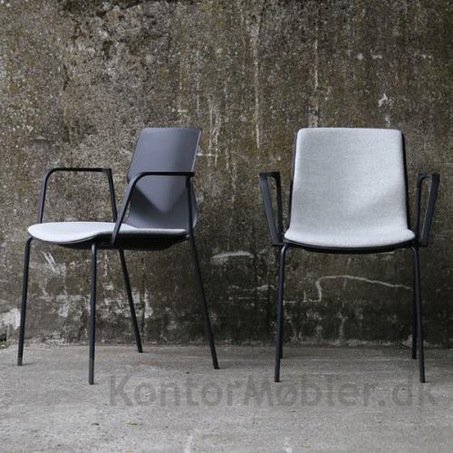 Four Sure mødestol med loop armlæn og polstring