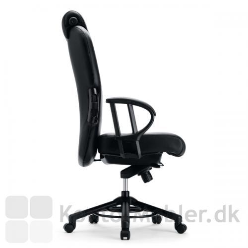 XXXL kontorstol med armlæn der kan indstilles