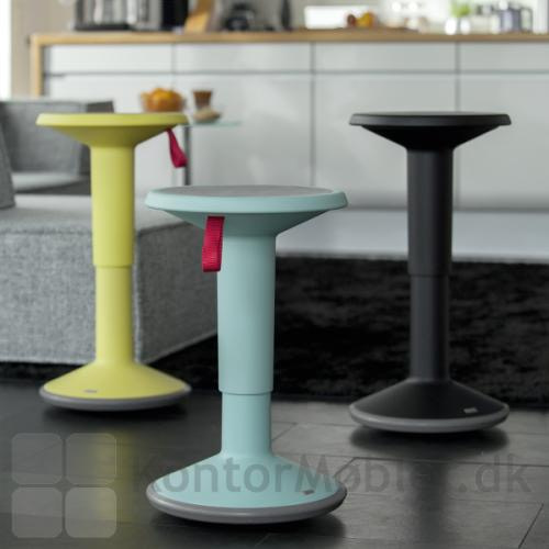 PU taburet fra Interstuhl kan vælges i flere farver