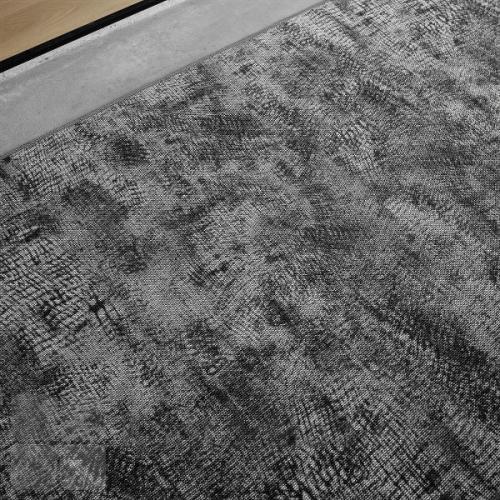 RAW gulvtæppe med mønsteret Crochet Loop og overlook kant