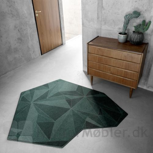Create tæppe i geometriek form og med overlook kant