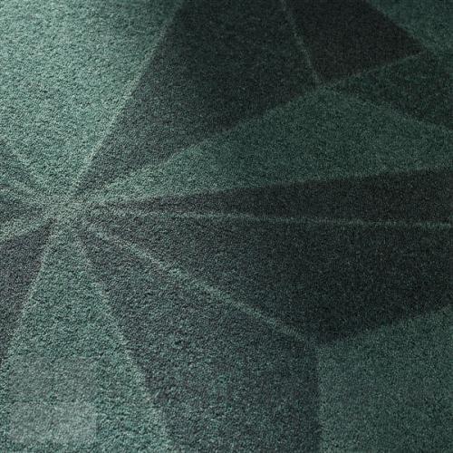 Create tæppe kan vælges med mønsteret Crystal i grønne nuancer