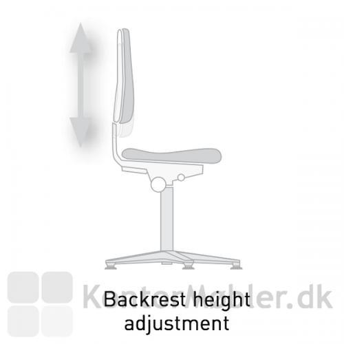 Cleanroom laboratorie stol med justerbar ryglæn