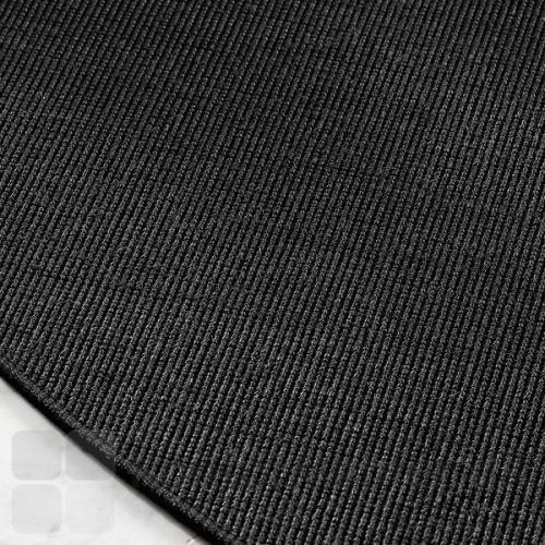 Sort Sisal Boucle tæppe med karakteristisk loop pile vævning