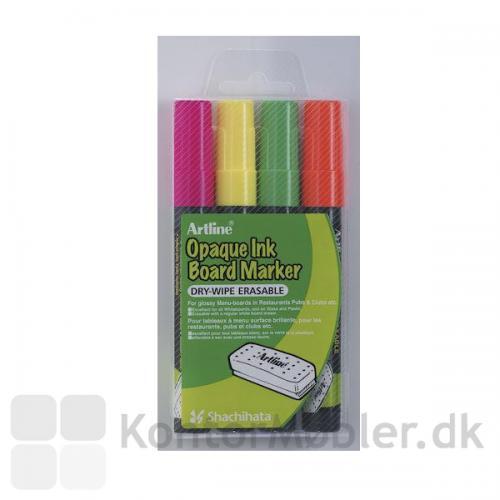 Neon penne til whiteboard og glas tavler