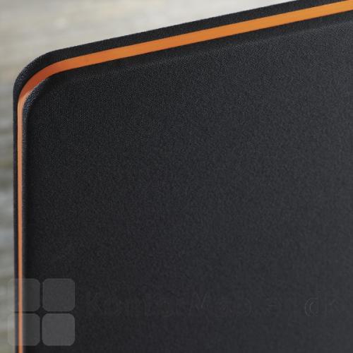 Edge gulvskærm med orange kantliste