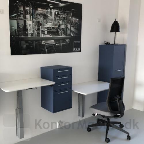 Vægmonteret Delta hæve/ sænkebord er pladsbesparende