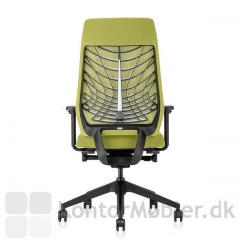 Joyce kontorstol med sort ryg og stel