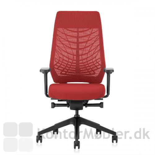 Joyce kontorstol med sorte armlæn