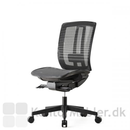 Air One kontorstol er frisk og florlet i sit design