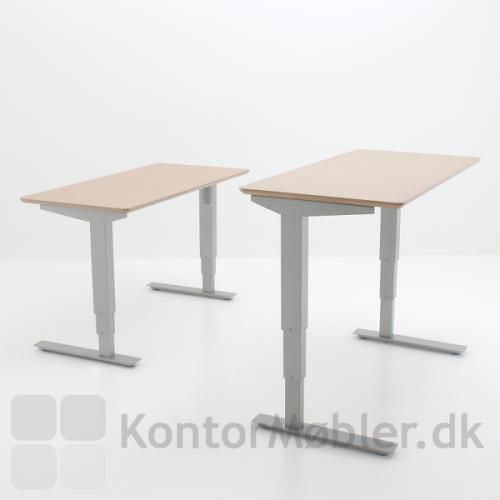 Conset 501-37 hæve sænke bord med smal bordplade i dybde 60 cm