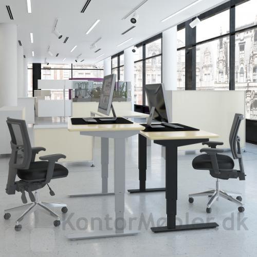 Conset 501-37 hæve sænke bord kan vælges med stel i sort, hvid eller silver