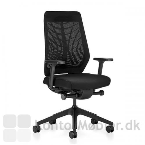 Joyce kontorstol med lav ryg, helt i sort