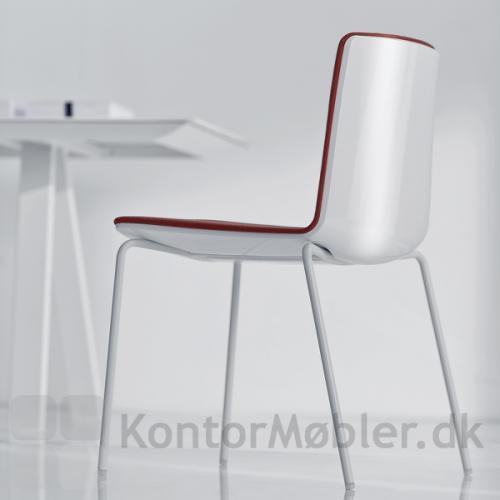 Noa mødestol med hvid blank ryg