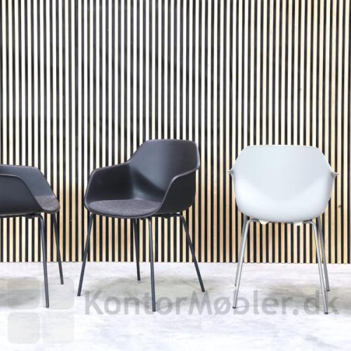 Four Me stoleserien har et behageligt sæde, som giver en fantastisk siddekomfort