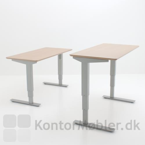 Conset 501-37 stel med højdevandring fra 57 til 122 cm uden bordplade
