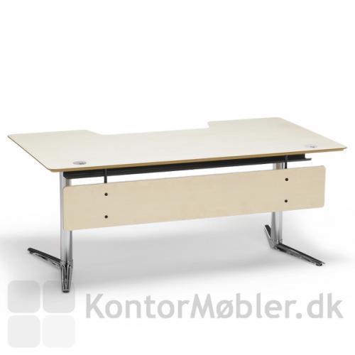 Fumac Switch hæve sænke bord med birk bordplade og birk frontpanel