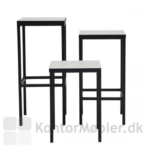 Square taburet kan vælges i højde 45 cm, 65 cm eller 75 cm
