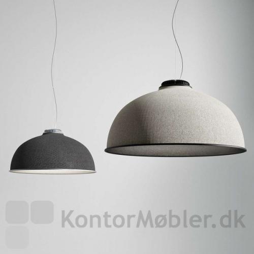 Farel loftlampe i farverne lys grå og mørk grå