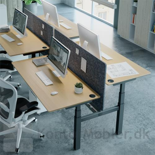 Conset 501-88 dobbeltbord med skærmvæg