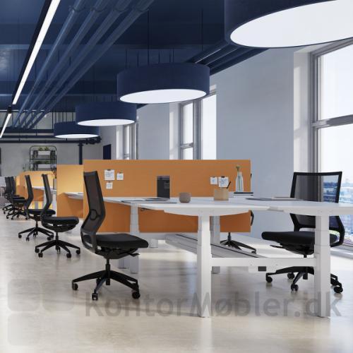 Delta dobbelte hæve sænke borde, giver nye muligheder for indretning af arbejdspladser