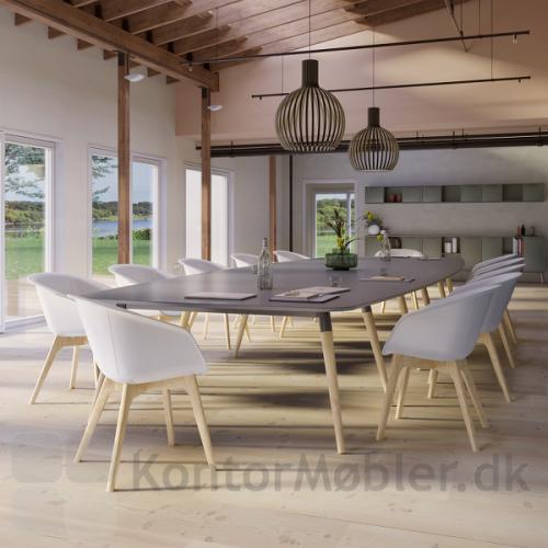 XL konferencebord kan vælges i mange størrelser og former