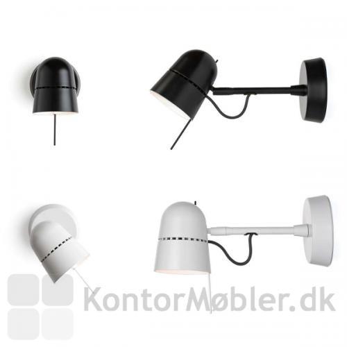 Counterbalance spot kan vælges i farven hvid eller sort