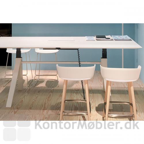 ARKI hæve sænke mødebord i hvid laminat