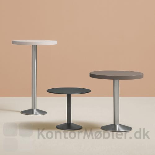 Tonda cafébord fås i forskellige bordpladestørrelse