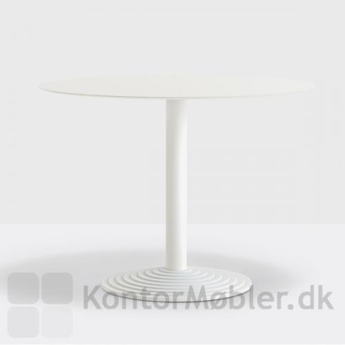 Step cafébord i hvid, med bordplade i kompaktlaminat