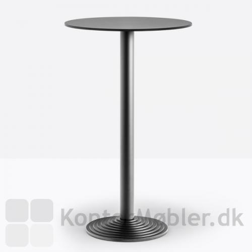 Step cafébord højde 110 cm med en lille bordplade