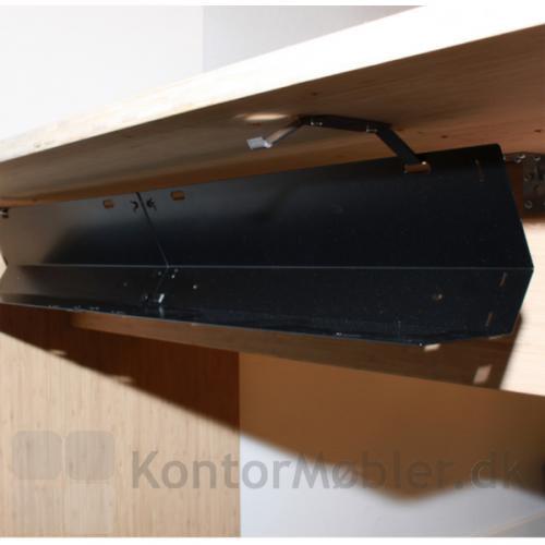 Gaia kabelbakke monteret under skrivebord
