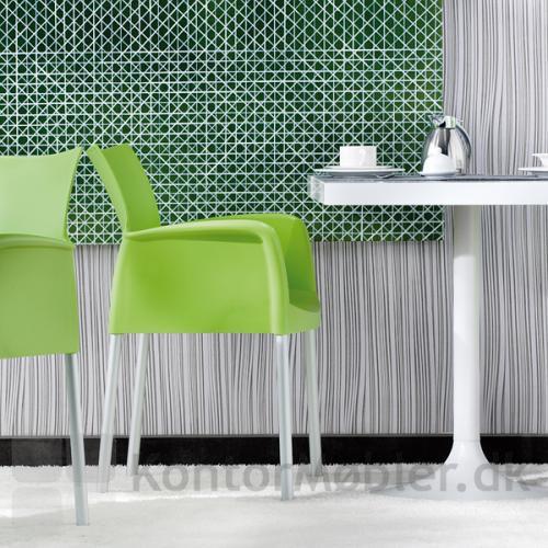 Dream cafébord Ice mødestol med armlæn