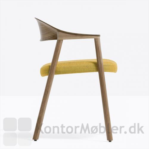 Héra træstol med gul Swing polstring