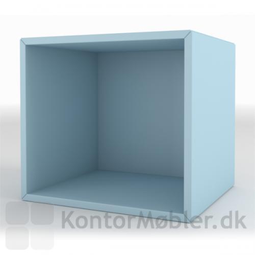 Skab med 1 rum i farven lyseblå