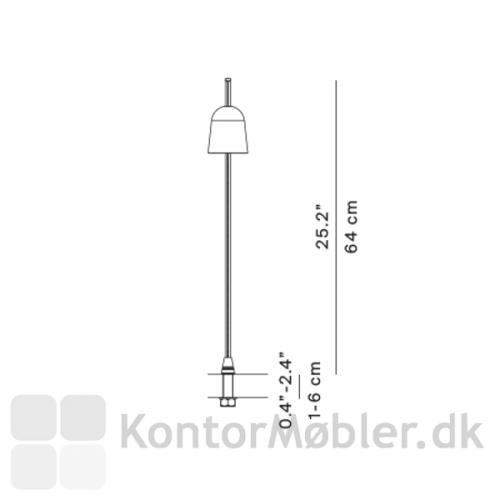 Måltegning på Ascent bodlampe med monteringspind