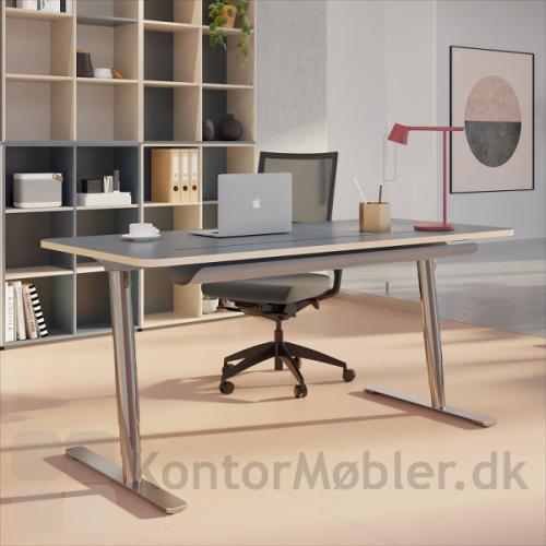 V7 hæve sænke bord med ben i krom