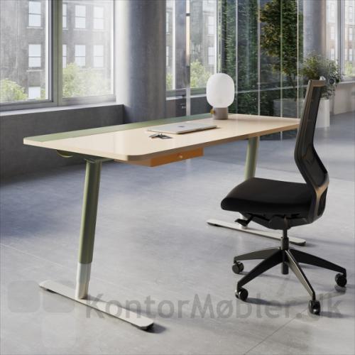 V7 hæve sænke bord med privat skuffe