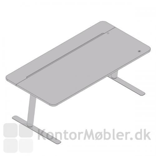 V7 design hæve sænke bord med runde hjørner, samt indbygget betjeningspanel i bordpladen