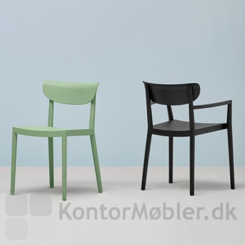 Tivoli mødestol kan vælges med eller uden armlæn